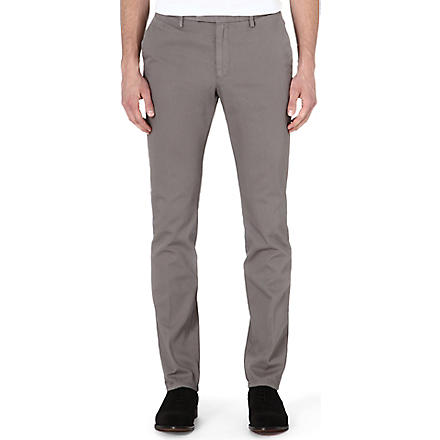 REISS Heavyweight Tullum cotton chinos (Grey