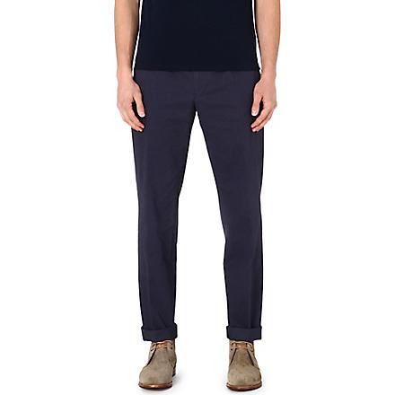 REISS Joshi pleat-detail trousers (Grey
