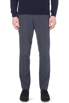 REISS Pepper fine herringbone trousers