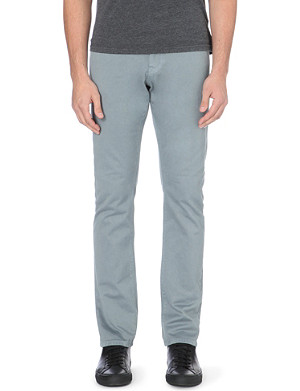 REISS Blackbird slim-fit tapered cotton trousers