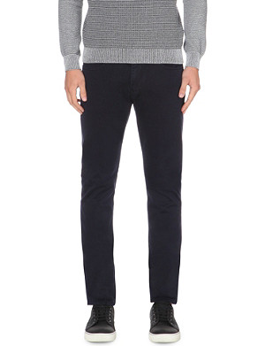 REISS Slim-fit tapered cotton chinos