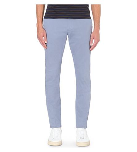 REISS Bennett slim-fit stretch-cotton chinos (Airforce+blue