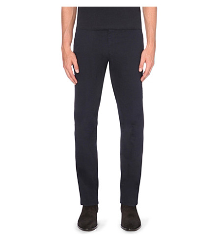 REISS Bennett slim-fit stretch-cotton chinos (Navy