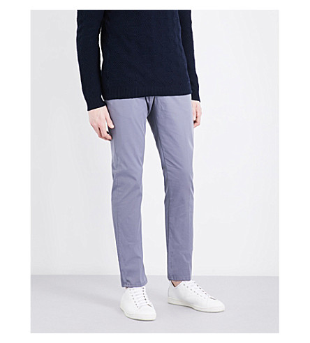 REISS Friston slim-fit stretch-cotton chinos (Airforce+blue