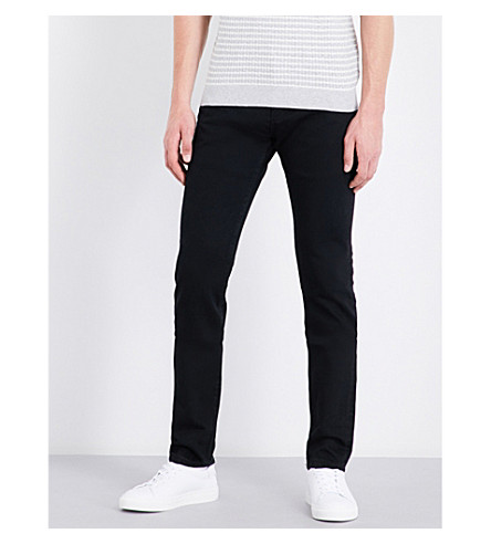 REISS Johnny slim-fit tapered jeans (Black
