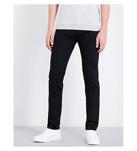 REISS 约翰尼修身版型锥形牛仔裤 (黑