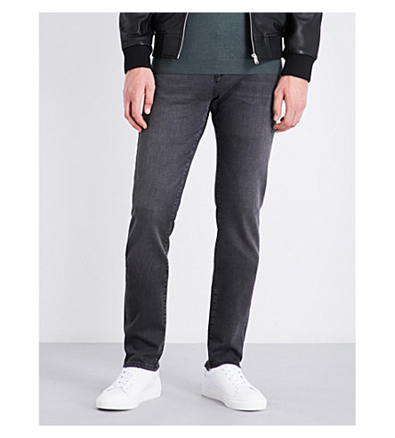 REISS Pinto washed slim-fit tapered jeans (Washed+black