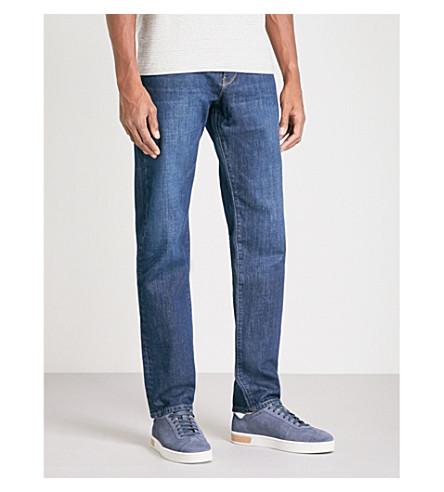 REISS Zorla regular-fit straight jeans (Mid+blue