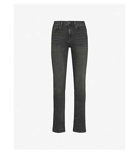 REISS Fury slim-fit tapered jeans (Washed+black