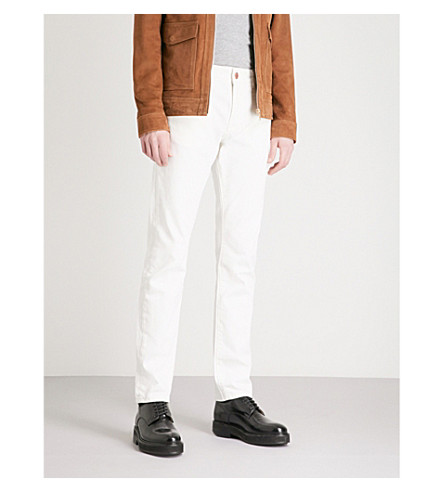 REISS Woolcombe slim-fit straight jeans (White