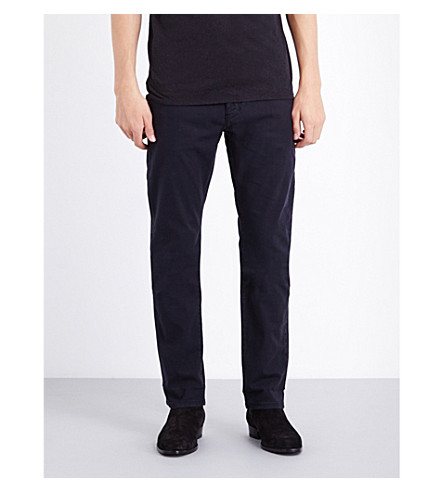 REISS Fugee mid-rise stretch-denim jeans (Navy