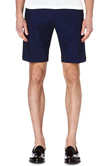 REISS Hickory pin-dot cotton shorts