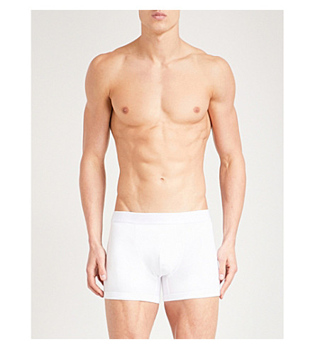 REISS Ace slim-fit stretch-cotton trunks (White