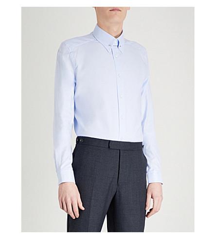 REISS Ludlow slim-fit cotton shirt (Soft+blue
