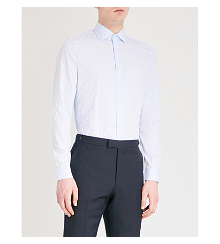 REISS Gilespie cotton shirt (Soft+blue