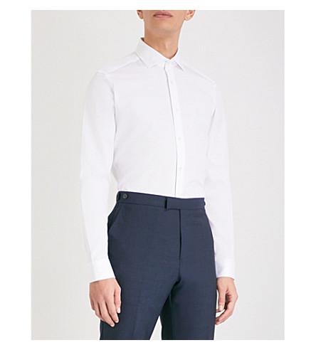 REISS Hanso slim-fit cotton shirt (White