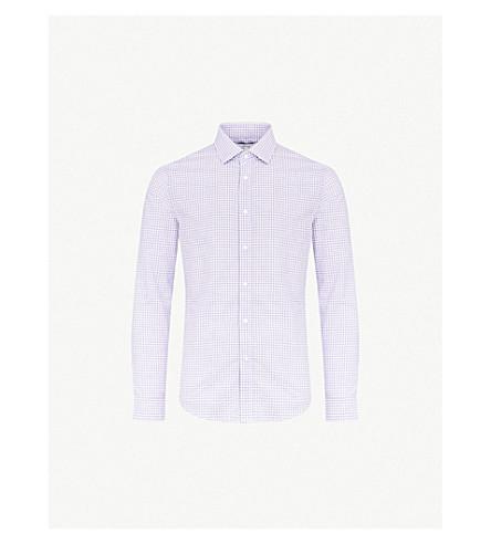 REISS Knight cotton shirt (Purple
