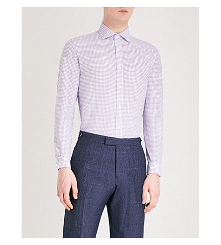 REISS Knight cotton shirt (Purple
