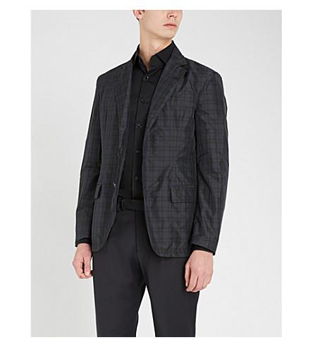 REISS Oxider slim-fit cotton-poplin shirt (Black