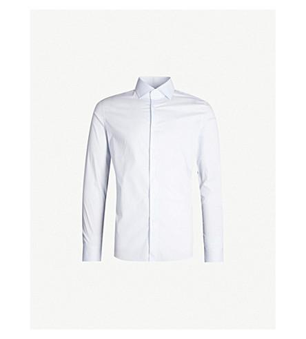 REISS Oxider slim-fit cotton-poplin shirt (Soft+blue