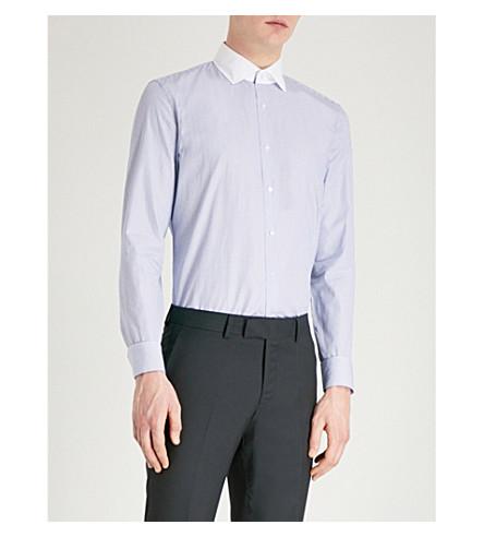 REISS Richie slim-fit cotton-poplin shirt (White