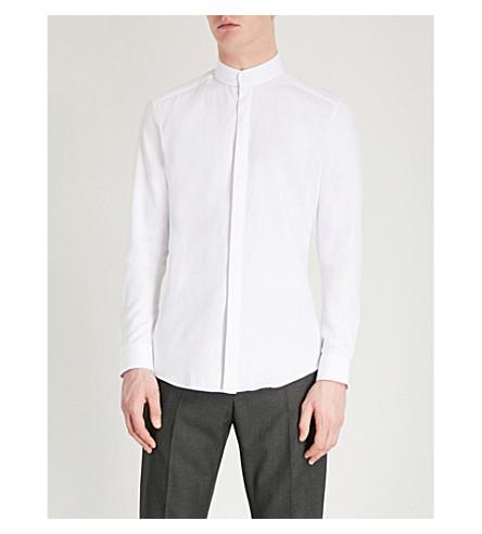 REISS Romeo textured slim-fit cotton shirt (White