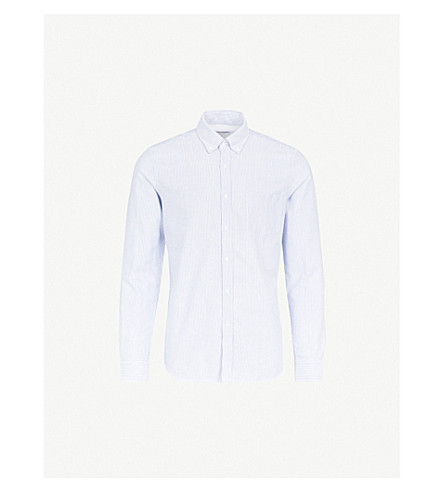 REISS Taylor cotton shirt (Soft+blue