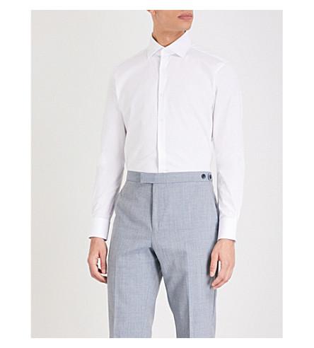 REISS Laurel regular-fit cotton shirt (White