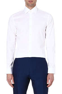 REISS Zinc slim-fit stretch-poplin shirt