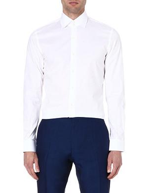 REISS Zinc slim-fit stretch-poplin shirt