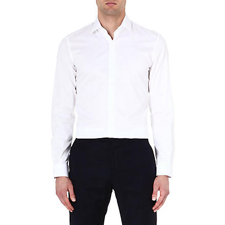 REISS Driver slim-fit cotton shirt (White