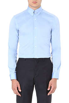 REISS Belfort collar-bar shirt