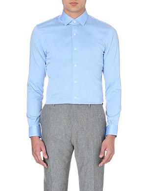 REISS Angelo cutaway collar cotton shirt