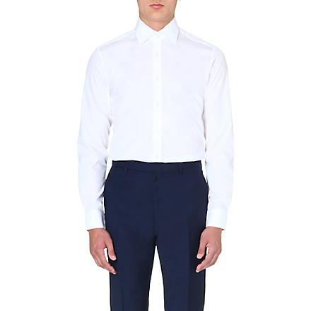REISS Slim-fit point collar shirt (White
