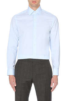 REISS Columbus cotton point collar shirt