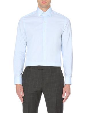 REISS Columbus cotton point collar shirt
