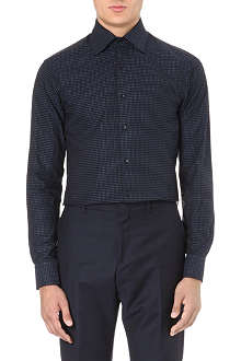REISS Gable polka-dot shirt