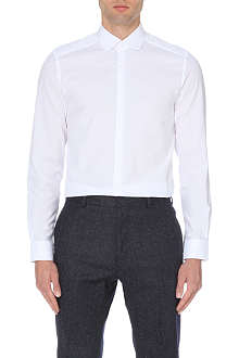REISS Rhyme textured curved collar shirt