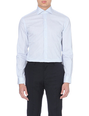 REISS Donny single-cuff cotton shirt