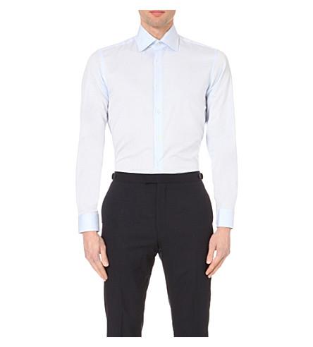 REISS Christopher classic-fit cotton shirt (Soft+blue