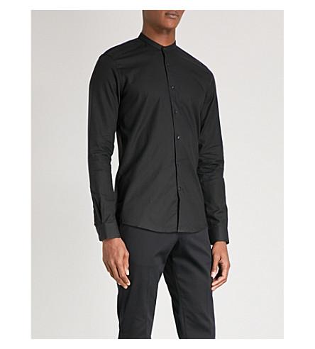 REISS Mcrae slim-fit cotton Oxford shirt (Black