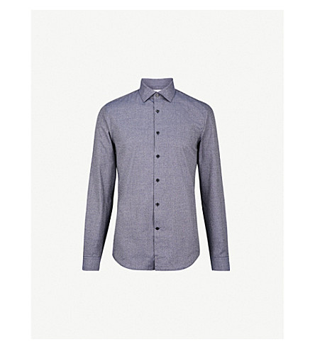REISS Shore slim-fit cotton shirt (Indigo