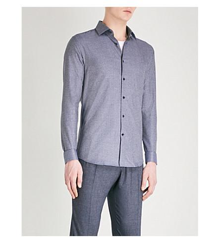 REISS Shore slim-fit cotton shirt (Indigo