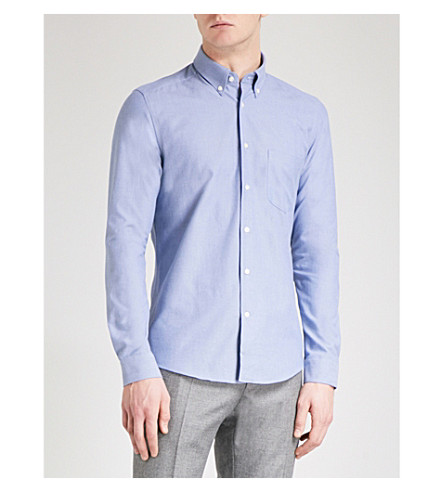 REISS Ainslee button-down slim-fit shirt (Navy