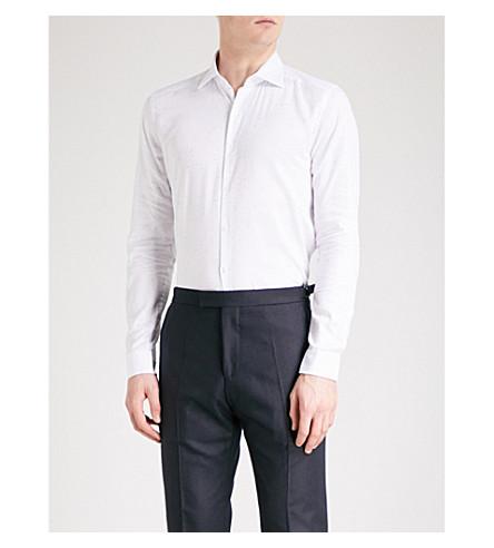 REISS Luca cotton-woven shirt (White