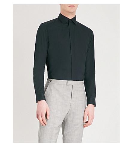 REISS Alnwick slim-fit stretch-cotton shirt (Black