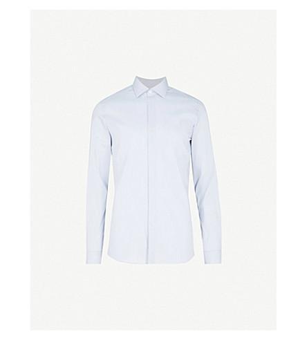 REISS Durban slim-fit cotton shirt (Ice+blue