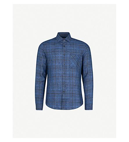 REISS Zaki linen shirt (Navy