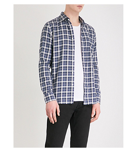 REISS Princey cotton shirt (Navy