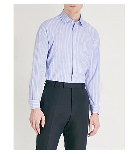 REISS Rayth cotton shirt (Soft+blue